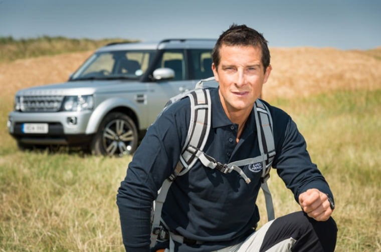 Bear Grylls and Landrover