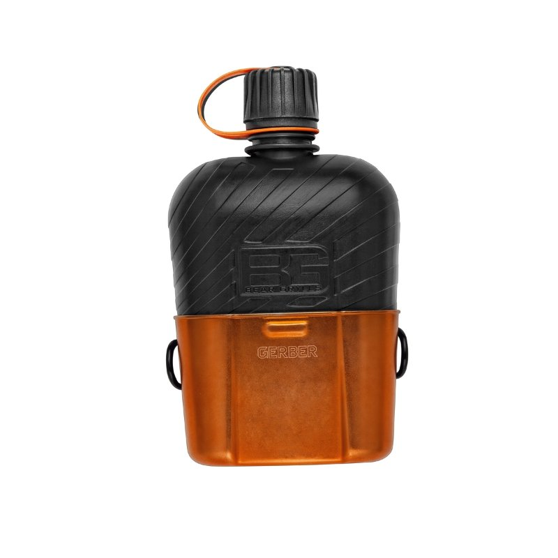 Фляга Gerber Bear Grylls Canteen Water Bottle with Cooking Cup, блистер, 31-001062